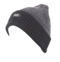 Thermal twisted turn up beanie hat winter beanie hat